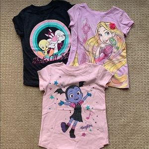 Set of 3 character tshirts- 4t
